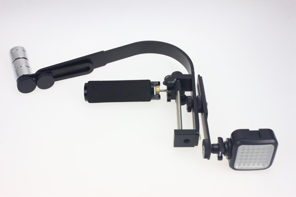 F11303-A Commlite CS-S2 Camera Video Stabilizer Steady Handheld DSLR Grip 36 LED Adjustable White Lamp Light & Flash Hot Shoe FS samsonite comfort travelling синяя u23 11303