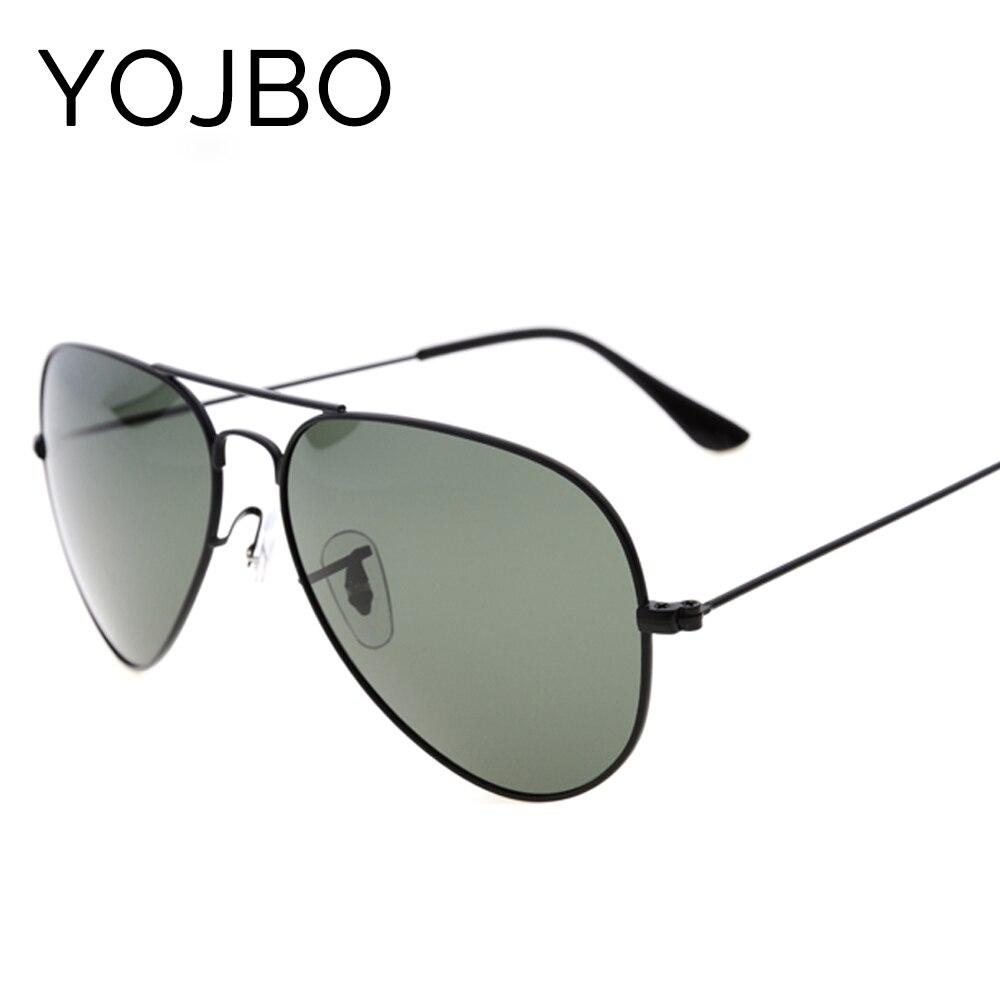 YOJBO polarizado gafas de sol hombres piloto, marca de diseñador, el sol para mujeres de lujo UV400 genial Vintage gafas