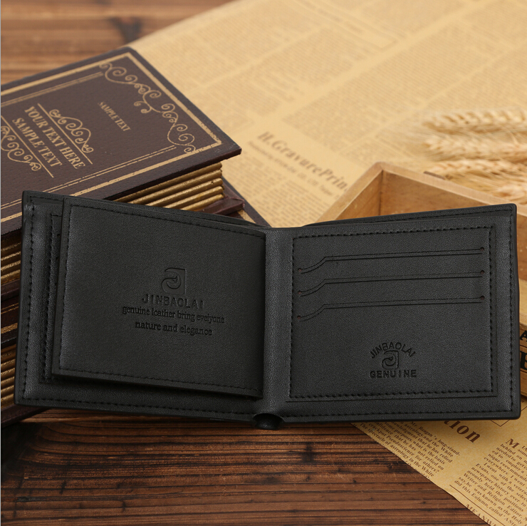 Hot Sale Fashion Plaid 3 Fold Men Wallet 2 bills Bits Black Brown Colors Card Holder SIM Photo-Bit Purse Wallets Free shipping