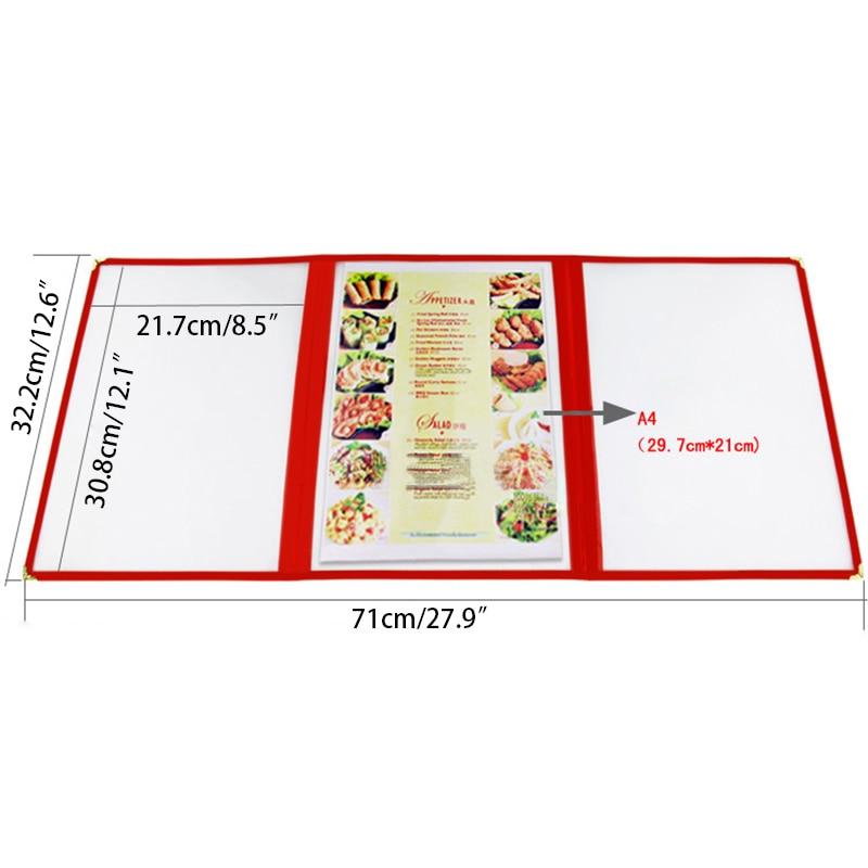3 sheet three panel plastic menu holder (2)