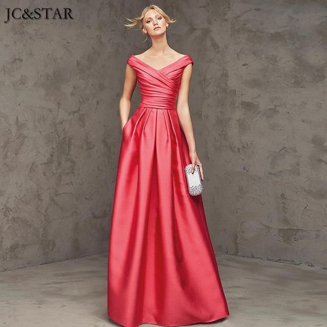 JC&STAR Plus Size Long Bridesmaid Dresses A line Customized Wedding ...