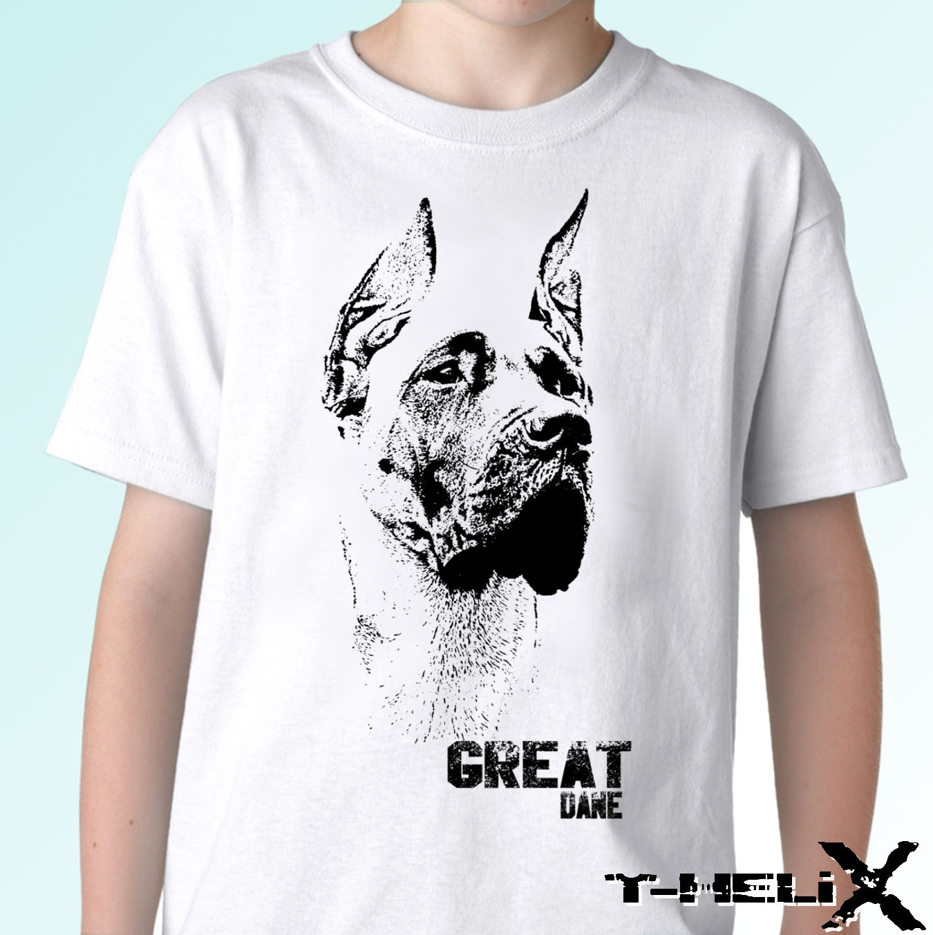 Great Dane - <font><b>dog</b></font> t shirt top tee garman <font><b>dog</b></font> design - mens womens Cool Casual pride t shirt men <font><b>Unisex</b></font> New Fashion <font><b>tshirt</b></font> image