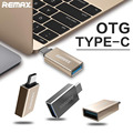 Original Remax Metal USB-C Type C Male to USB 3.0 Female Converter OTG Adapter for Macbook Chromebook Android Phones RC05