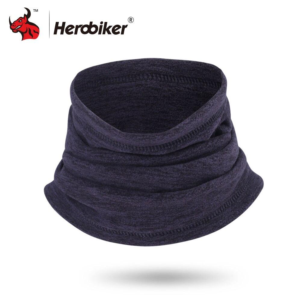 HEROBIKER Inverno Mask Moto Moto Scaldino del Collo del Panno Morbido Termico Balaclava Cappello Cappuccio Moto Maschera di Equitazione Nero Grigio Blu