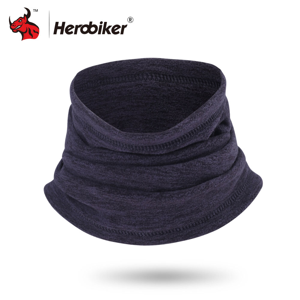 HEROBIKER Winter Motorcycle Mask Motorbike Neck Warmer Thermal Fleece Balaclava Hat Hood Moto Riding Mask Black Gray Blue