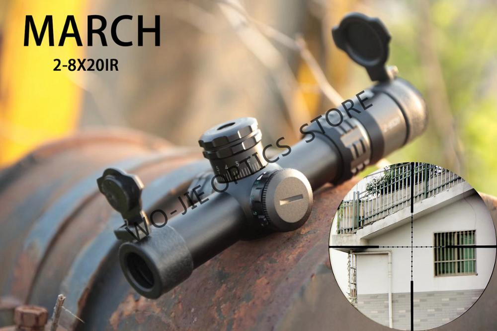 Hunting Optical Sight 2-8X20IR Riflescope Illuminated With Red Dot With 11mm Or 20mm Mount Rifle Scope For Shooting