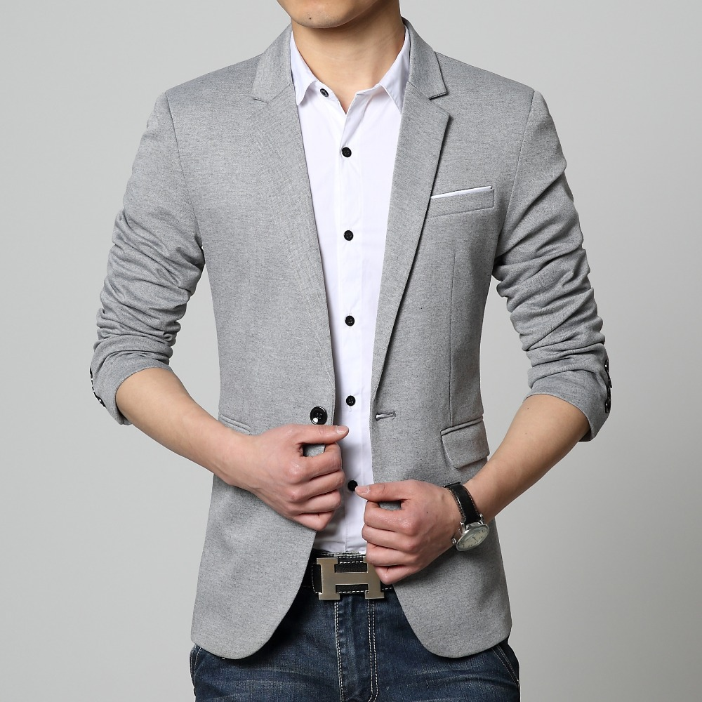 Online Shop New suit men 4 colors casual jacket terno masculino