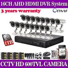 Главная 16-канальный 600tvl ИК открытый безопасности камера с dvr комплекты записи системы видеонаблюдения комплект видеонаблюдения 16 канала hdmi 1080 P