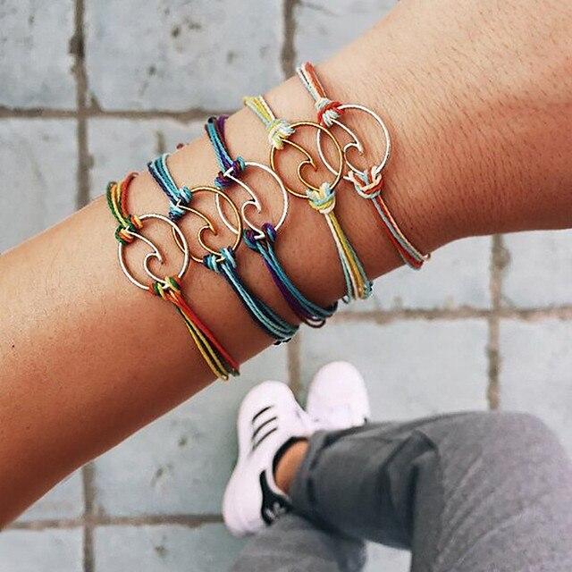 ZORCVENS pulseira feminina thương hiệu thời trang boho bãi biển đồ trang sức vòng đeo tay cho phụ nữ món quà Sóng vòng đeo tay Quyến Rũ