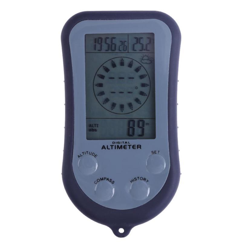 Numérique LCD 8 En 1 Boussole + Altimètre Baromètre + + Thermomètre + Prévisions Météo + Temps + Calendrier + rétro-éclairage pour Camping Randonnée Escalade