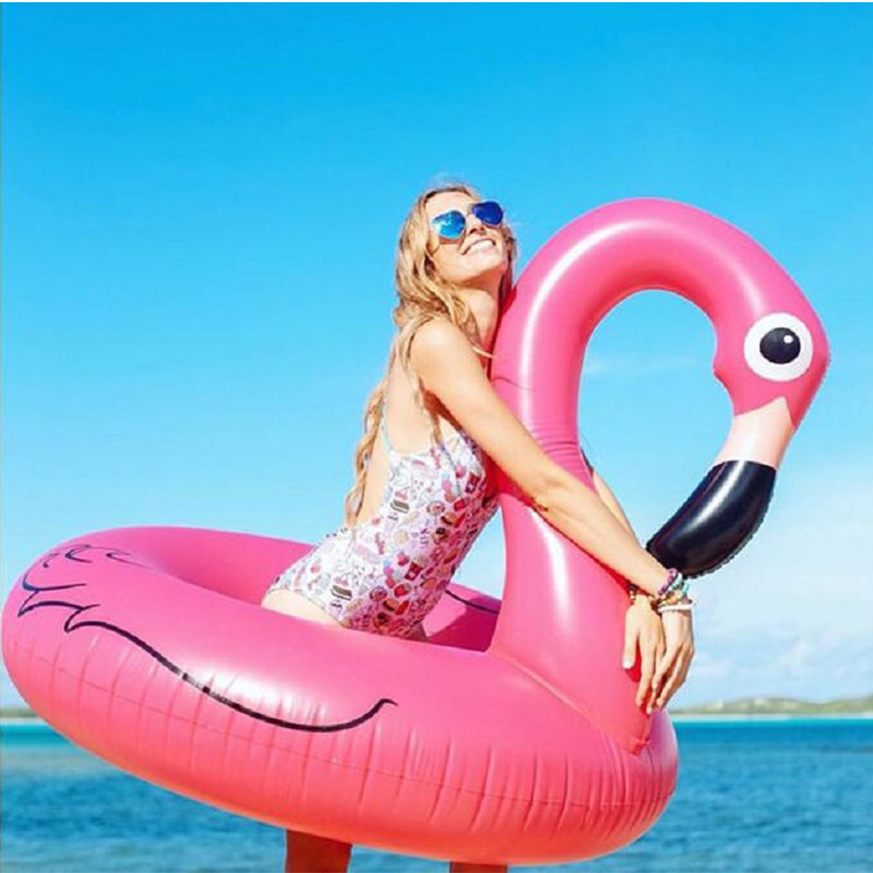 Flamingo Pool Float Inflatable Inflatable Mattress For Swimming Floats For Adult Pool 120cm Swimming Ring Swim Circle Pool Party