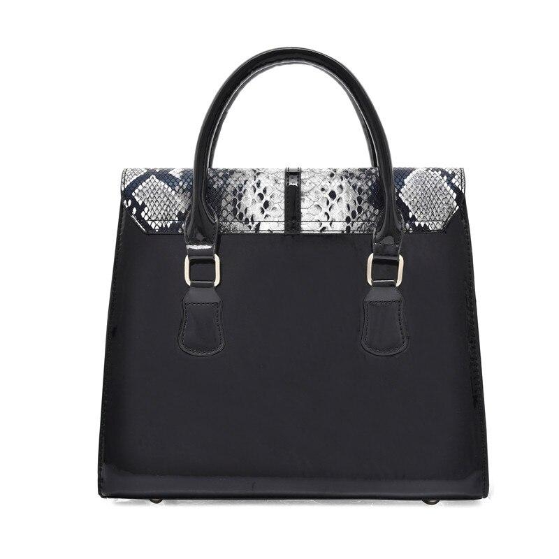 Handbags Women Bags Snake Pattern Tote Bag PU Leather Street Messenger Shoulder Bags
