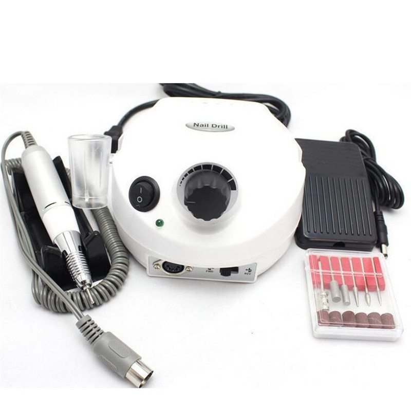 Nail Electric Manicure Machine 35000RPM Pro Electric Nail Drill Machine Pedicure Drills for Mill Nail Drill File Bits Nail Tools 35000rpm pro manicure nail art machine tool pedicure electric drill file bits kit set salon home nail drill file tools set