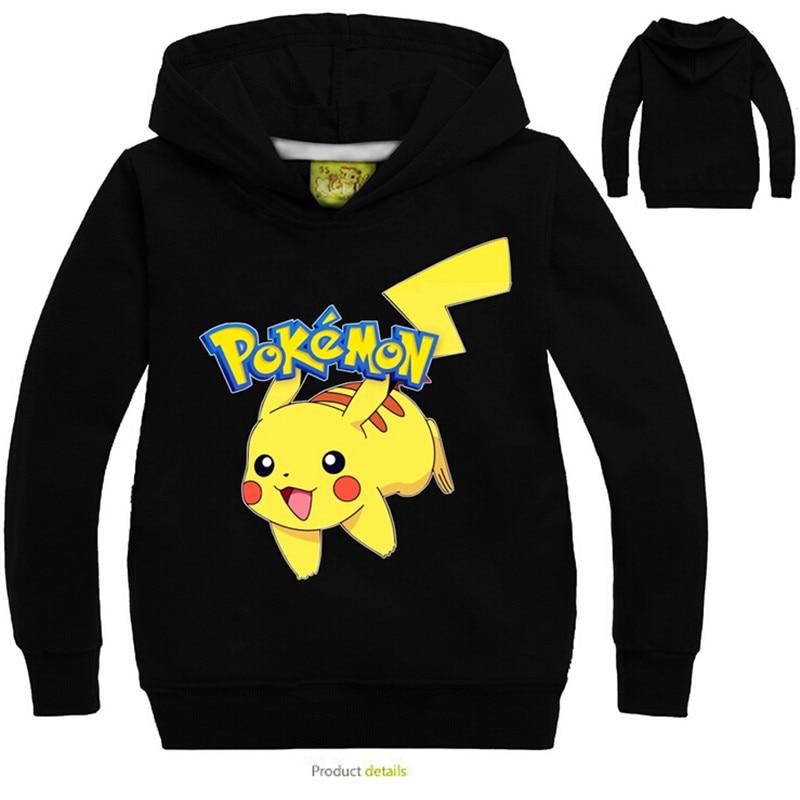 73f58feafe41 773 Pokemon Kids Boys Girls Pikachu Hoodies Sweatshirts Tops
