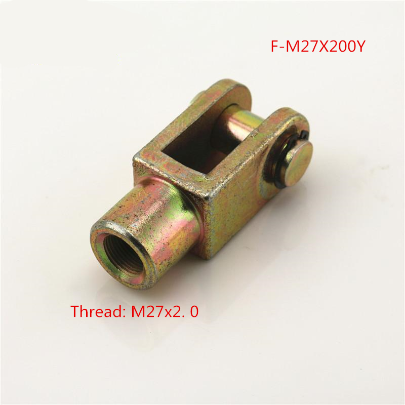 Free shipping 1 pcs Y Joint M27x2.0mm Female to Male Thread Pneumatic Cylinder Piston Clevis,F-M27X200Y free shipping 5pcs lots sg 125 m27x2 iso6431 cylinder attachment y type joint u joints y