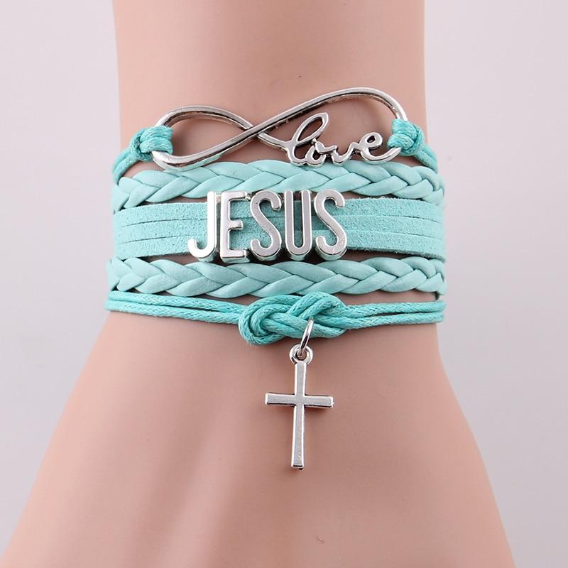 Little Minglou Infinity Love JESUS Armband Kreuz Charme - Modeschmuck - Foto 2