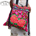 Vintage Embroidery Womens National Trend Bags Handmade Flower Embroideried Ethnic Clothshoulder Bag Ladies Crossbody Bag Sac