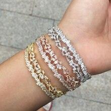 Модный изысканный роскошный браслет GODKI с фианитами для свадьбы, вечеринки, Саудовской Аравии, Дубая