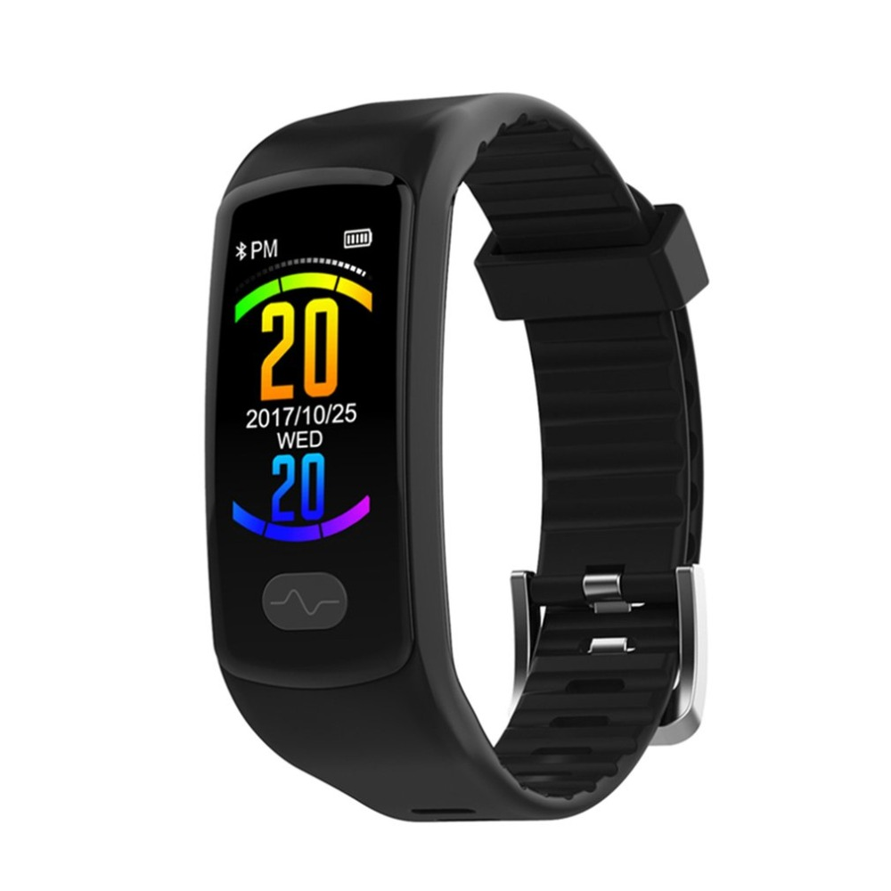 Color Screen Smart Band Bracelet ECG Heart Rate Blood Pressure Exercise Step Wrist Band Sports Watch for Android iOS Wrist Band dc24v cooling extruder 5015 air blower 40 10fan for anet a6 a8 circuit board heat reprap mendel prusa i3 3d printer parts page 1