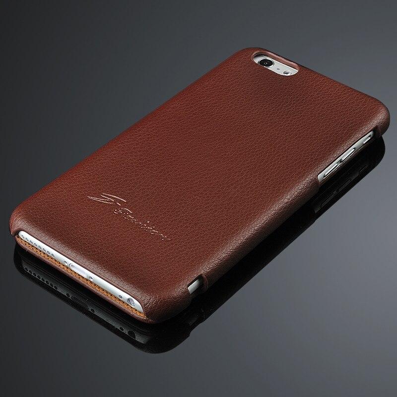 bilder für Geschäfts retro stil für iphone 6 6 s fällen luxus echtes leder flip litschi patte case für iphone 6 plus 6 splus schützen abdeckung