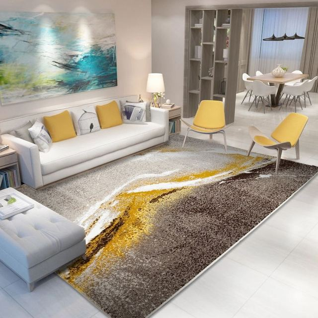 Modern Style Carpet Livingroom Home Decor Bedroom Carpet Sofa Coffee Table  Floor Rug Study Room Rugs Polypropylene Floor Mat