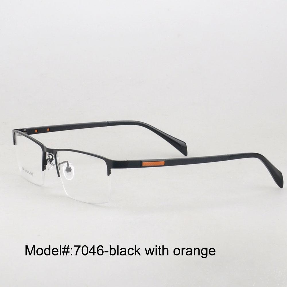 MEU DOLI 7046 homens chegada novo estilo meio aro de metal óculos armações  de óculos de prescrição óculos RX 24b89b2efd