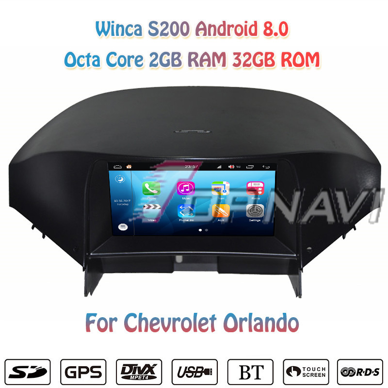Topnavi 7'' Octa Core S200 Android 8.0 Car DVD Multimedia Player for Chevrolet Orlando Video Radio Stereo 2DIN GPS Navigation