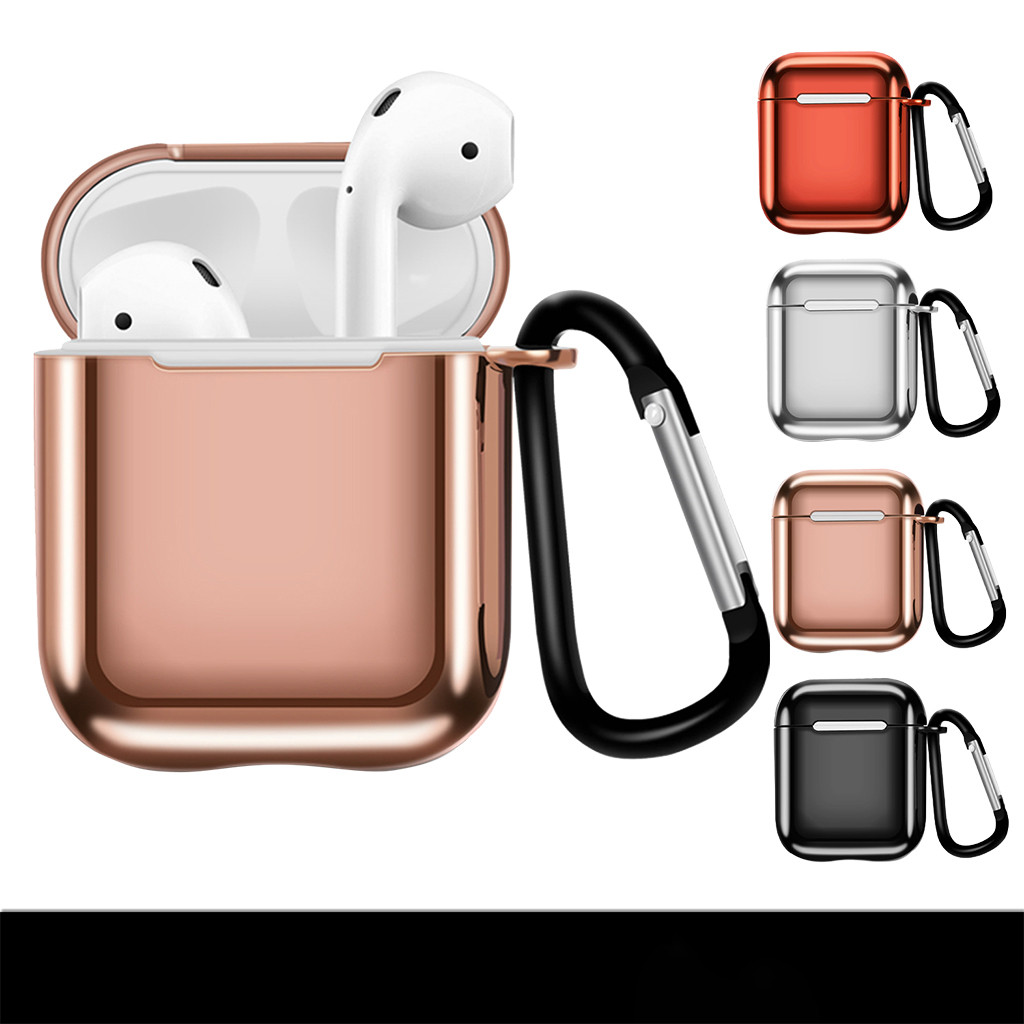 Cute Silicone Protective Case Cover Key Chain Pouch Skin for Airpods Earphones Headphones Cases for Airpods Protective Cover