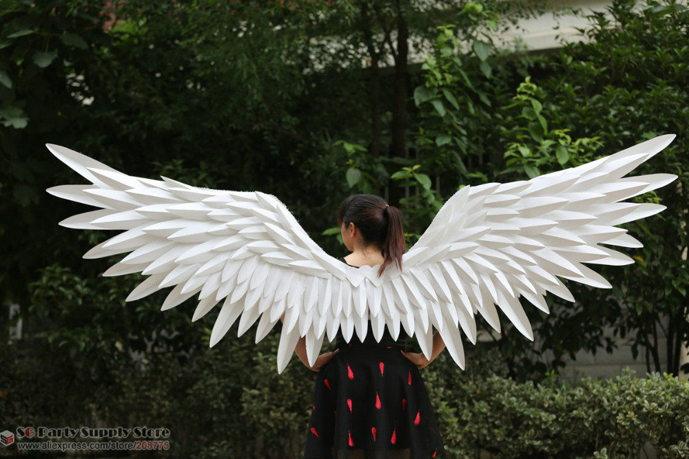 NEW Costumed white Angel feather wings for Automobile ...