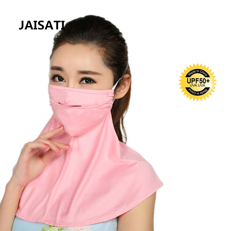 JAISATI Sunscreen UV protection summer neck shawl breathable mask thin dustproof riding breathing masks summer dust proof sunscreen neck mask female outdoor riding mask