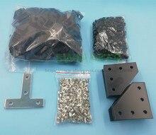 ชุดฮาร์ดแวร์สกรู, ถั่วและวงเล็บสำหรับ BLV mgn Cube โครงการฮาร์ดแวร์สำหรับ DIY CR10 Anet E12 3D ชิ้นส่วนเครื่องพิมพ์
