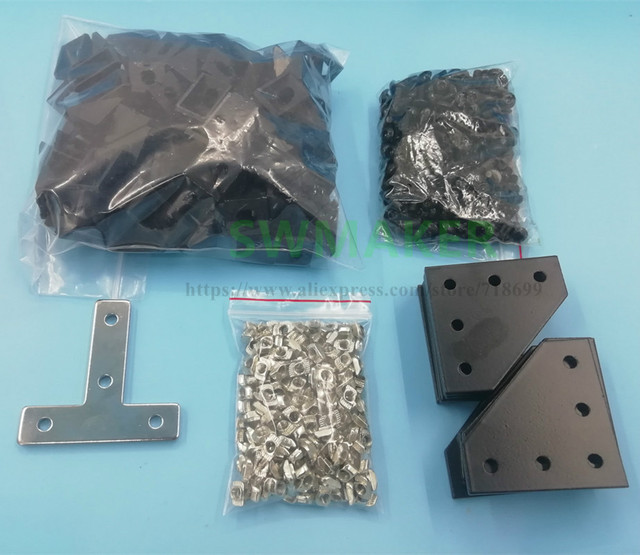 Hardware Kit Screws, Nuts and brackets for BLV mgn Cube Project Hardware Parts For DIY CR10 Anet E12 3D Printer Parts