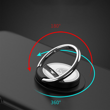 DuDa Metal Finger Ring Mobile Phone Holder For iPhone 8 7 Samsung 360 Degree Cellphone Stand Mount