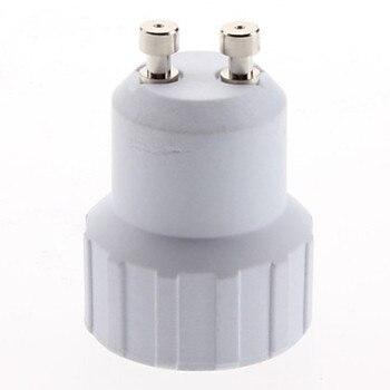 IWHD 10pcs Gu10 To E14 Adapter Splitter Bulb Light Socket Converter Lighting Accessory
