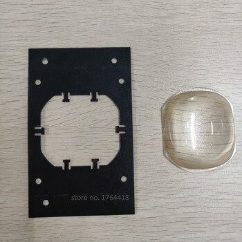 DIY โปรเจคเตอร์ LED สแควร์คอนเดนเซอร์เลนส์ขาตั้งเฉพาะคอนเดนเซอร์เลนส์สแควร์ LED โคมไฟ 62 มม. * 52 มม
