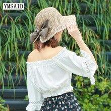 Sun-Bonnet Straw Ladies Cap Folding Women Snapback Solid Gorras Bow-Decoration Hip-Hop