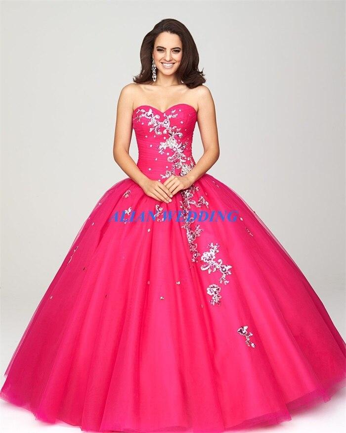 Modest diseño vestidos reales azul Quinceanera 2015 balón vestido de ...