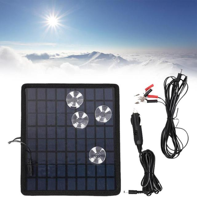 12V 5W Solar Charging Board Polysilicon Chargers Battery Portable Consumer Electronics For Car Boat Automobile Outdoor Travel 2