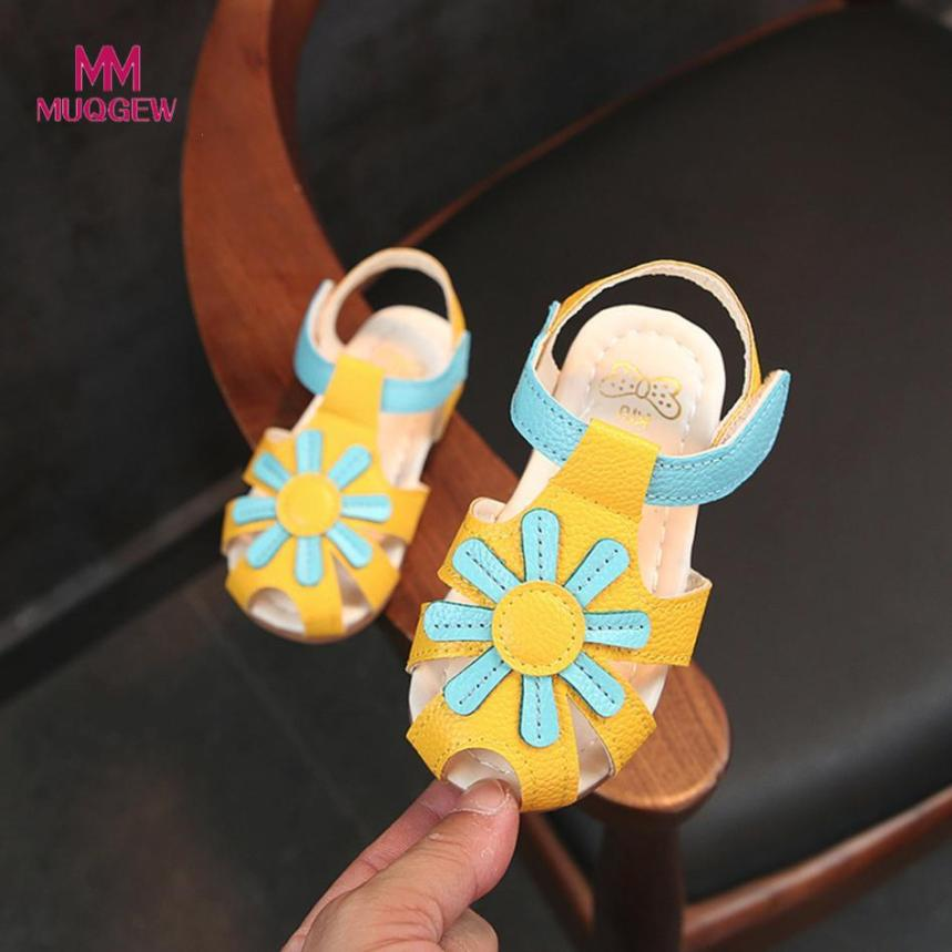 childrens sandals for girls newest style hot sale Sandals Sunflower Sole Children Princess Sandals Rubber Shoes Leather Beach