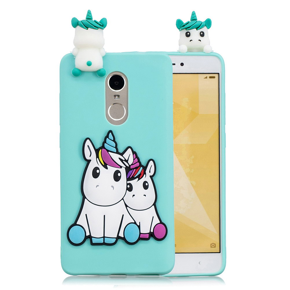 3D Stress Relief Silicon Phone Case For Xiaomi Redmi Note 4X Cute Soft Unicorn Panda Bear TPU Cases For Xiaomi Redmi Note 4 Pro