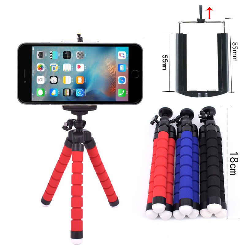 Live Equipment Confident Mactrem Mini Tripod Sponge Octopus Flexible Lightweight Tripod With Bluetooth Remote Shutter For Selfie Iphone Samsung Gopro
