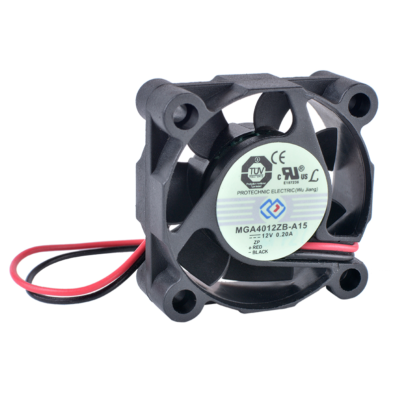 COOLING REVOLUTION MGA4012ZB-A15 4cm 40mm 4015 12V 0.20A 2-wire double ball bearing large air volume cooling fan
