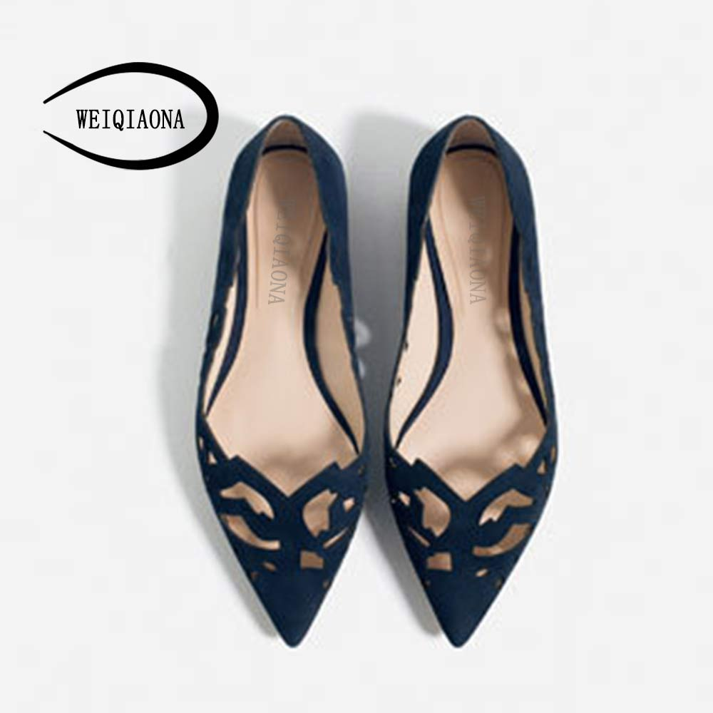 Plus Size 34-43 Women sandals hollow strap sandals Flats Pointed Toe Ballerina women flat Shoes with bows in flats 2016 Fashion women flat sandals fashion ladies pointed toe flats shoes womens high quality ankle strap shoes leisure shoes size 34 43 pa00290