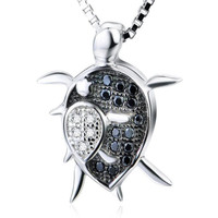 Fashion Animal Turtle Necklace & Pendants 925 Sterling Silver Tortoise Mom Baby Necklace Jewelry Anime Christmas Gifts