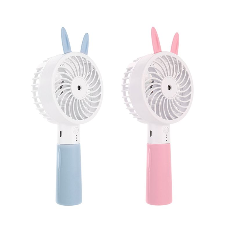 Cute Cat Ear Portable USB Rechargeable Cooler Mini Handy Cooling Fan Desk Pocket Water Mist Cooling Air Humidifier Fan-in USB Gadgets from Computer & Office