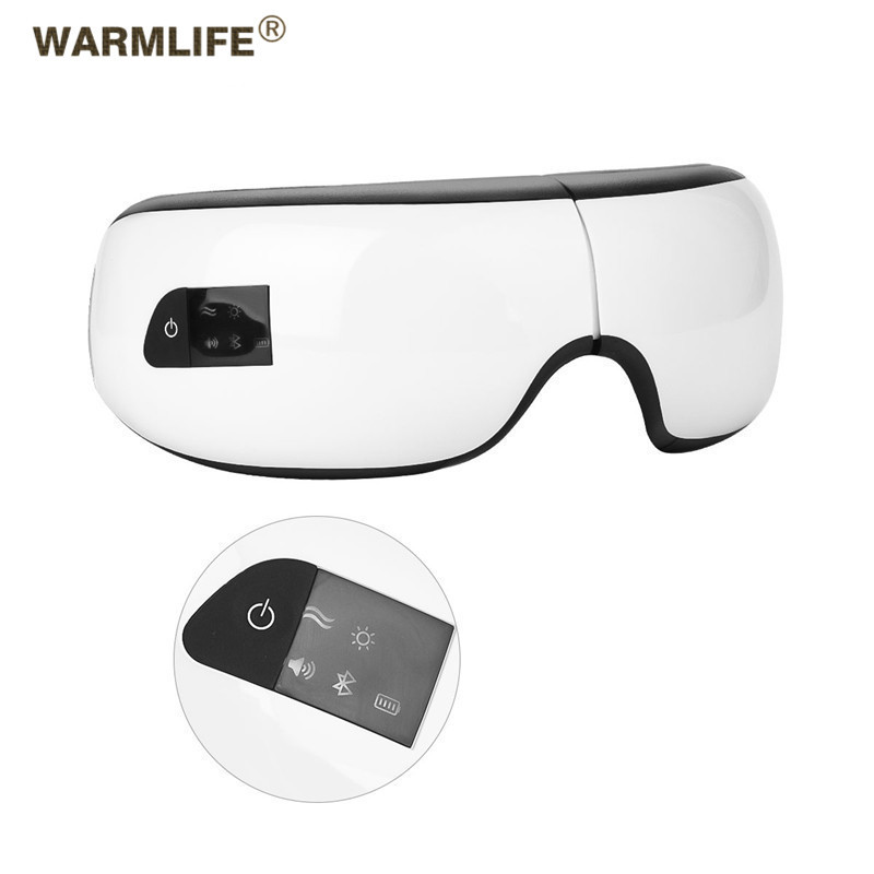 Foldable Electric Eye Massager Heat Compression Wireless Bluetooth Music Eyes Care MaskFoldable Electric Eye Massager Heat Compression Wireless Bluetooth Music Eyes Care Mask