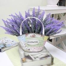 Flor de lavanda para decoração romântica, flores artificiais de lavanda, simulação decorativa de plantas aquáticas