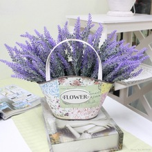 купить Romantic Provence decoration lavender flower silk artificial flowers grain decorative Simulation of aquatic plants онлайн