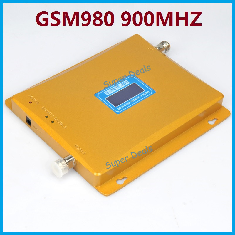 Hot Sale! LCD Display GSM980 900MHz Gain 65dBi Mobile Phone Signal Amplifier Booster Repeater 2000 Square Meter Amplifier