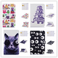 "Luxury printted cute cat owl butterfly & flower tower Stand Wallet Tablet Case For Samsung Galaxy Tab E 9.6"" T560 T561"